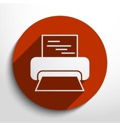 printer web icon vector image