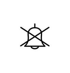 thin line silent bell icon vector image vector image