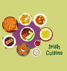 irish cuisine icon for scandinavian food design vector image vector image