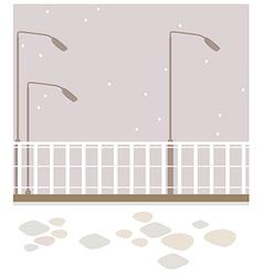 Street Lights Background vector image