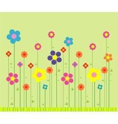 Stylish flower background vector image vector image
