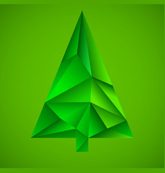 abstract colorful christmas tree from triangles vector image