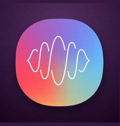 abstract soundwave app icon audio wave curves vector image