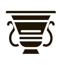 Ancient greek feast bowl icon glyph vector