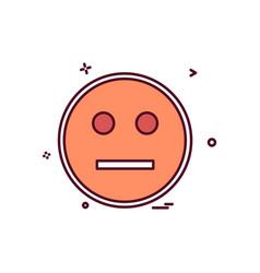 angry emoji icon design vector image