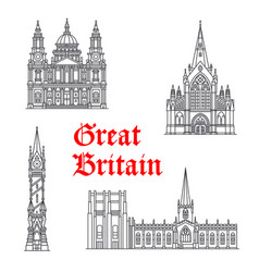 architecture great britain landmarks vector image