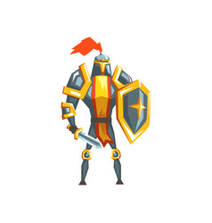 armored knight warrior character vector image