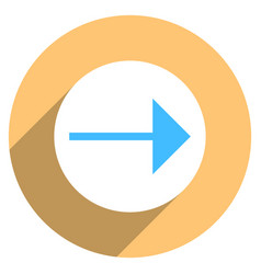 Arrow sign circle icon vector