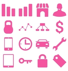 Basic business icons vector image