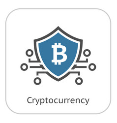 Bitcoin crypto currency icon vector