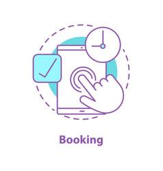 Booking concept icon vector