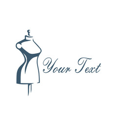 boutique bridal logo design template design vector image