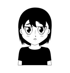 Boy anime manga vector