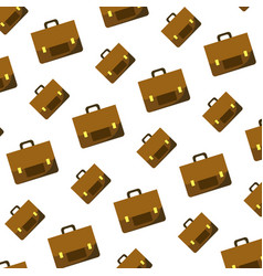 business briefcase object style background vector image