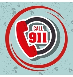 Call 911 emergency phone vector