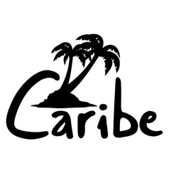 Caribe palm vector