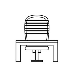 Ceo chair with desk vector
