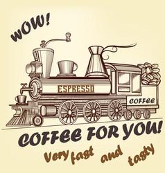 Coffee retro advertising poster vector