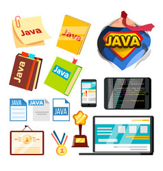 collection element of java programming set vector image