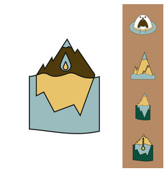 Collection of icons and climate change vector