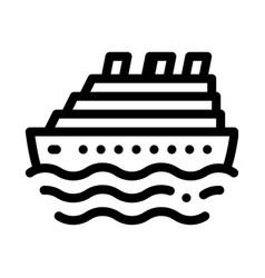 cruise ship icon outline vector image