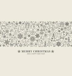 design christmas decoration - seamless pattern vector image
