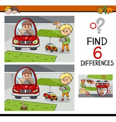 Differences game for kids vector