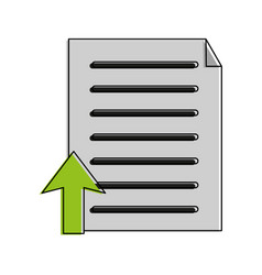 document upload icon image vector image
