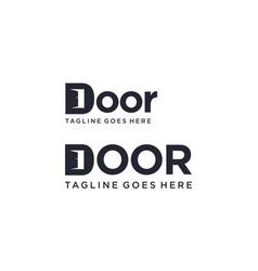 Door for logo design editable vector