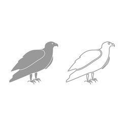 Eagle grey set icon vector