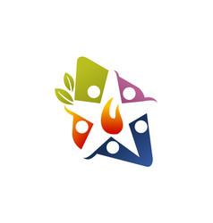 eco energy community vector image