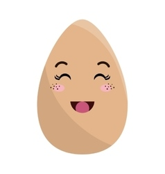 eggs food kawaii style vector image