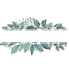 floral greenery card design forest vector image