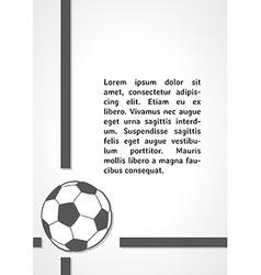 football symbol dark infographics vector image