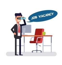 Free vacancy for a promising place leader is vector