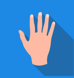 high five icon in flat style isolated on white vector image