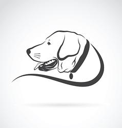Image of an dog labrador head vector
