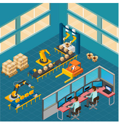 Industrial shop floor composition vector