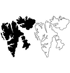 island svalbard map vector image