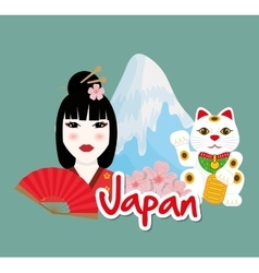 Japan design Culture icon Flat vector