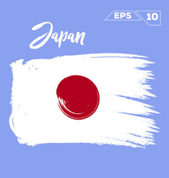 Japan flag brush strokes painted vector