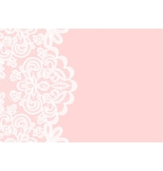 Lace border on black background vector