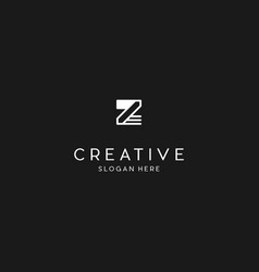 Letter z line creative business logo design vector