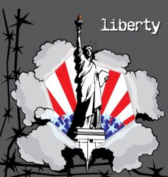 liberty vector image