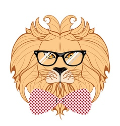 Lion Hipster3 vector