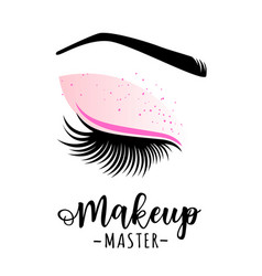 Makeup master logo vector