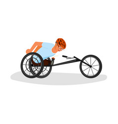 men sportsmen with incapability vector image