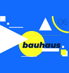 minimal geometric web banner design vector image