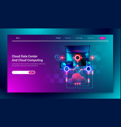 modern flat design cloud data center service vector image