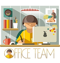 Office Team Designer vector image